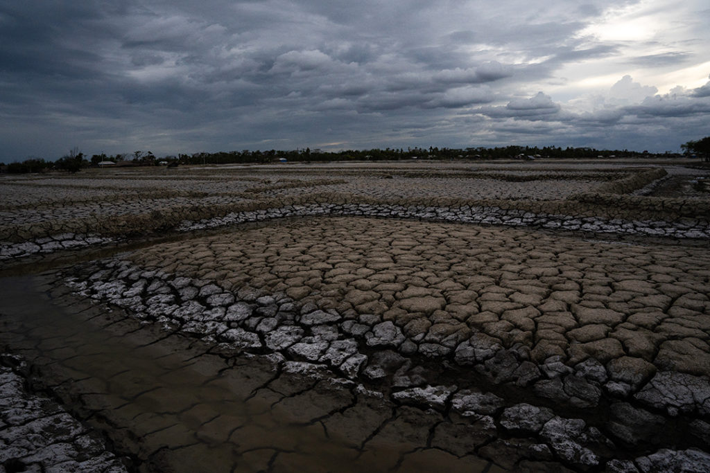 Agricultural land in Protapnogor laid waste by salinisation after Cyclone Amphan breached its embankments last year. This photo was taken days before Cyclone Yaas. © A J GHANI